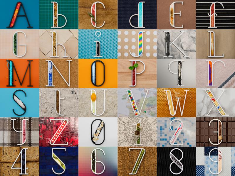 36 DOT 2018 work create font rendering 3d art typogaphy typo dribbble number letter 3d printed 3d printer project real 3d print render blender 3d 36daysoftype 36days