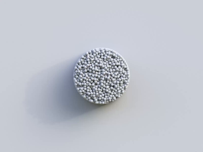 Fifty Thousand Particles Clay balls illustration glitchart glitch abstract concept clean molecular white particle particles c4d clay rendering cycles 3d art render blender 3d