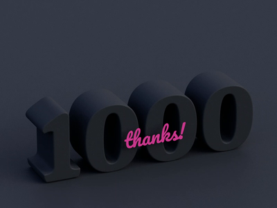 1K 1000 cycles thanks glitch art molecular illustration glitch balls dribbble particles particle c4d rendering render celebration celebrate blender animation 3d animation 3d