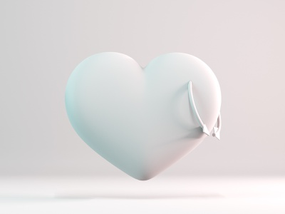 Heart - Clay minimal doodle design 3d illustration 3d artist 3d art love c4d cycles clean clay white simple rendering render illustration blender 3d arrow heart