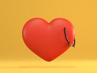 Heart heart arrow 3d blender illustration render rendering simple piercing red clean cycles c4d love 3d art 3d artist 3d illustration design doodle minimal