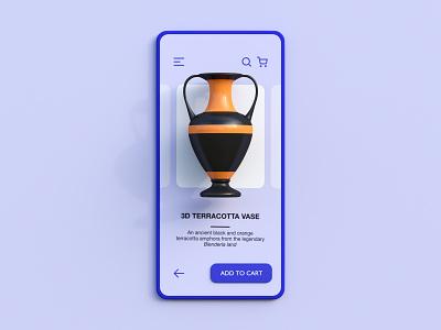 3D E-Commerce website concept c4d amphora e-commerce skeuomorph ui user interface webdesign web object neomorphism app 3d illustration cycles rendering illustration render 3d blender