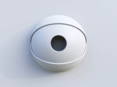 Crazy Eye - Clay eyeball eyes eye clean motion graphic animation motion design concept white gif clay design simple c4d cycles rendering illustration render 3d blender