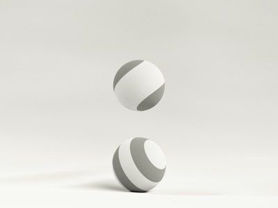 Colon - Clay illustration c4d 3d blender white icon branding concept design 36daysoftype typography type minimal punctuation clay twist wave sphere ball colon