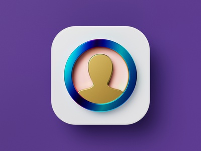 User-Friendly Icon for Rule Communication illustration vector glass iridescent gold friendly user profile ios round icon set 3d icon icon octane cycles b3d c4d cinema 4d blender 3d
