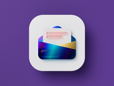Strategic Emails Icon for Rule Communication tools modular strategic marketing newsletter email mail octane illustration b3d c4d cinema 4d blender render 3d round ios icon set 3d icon icon