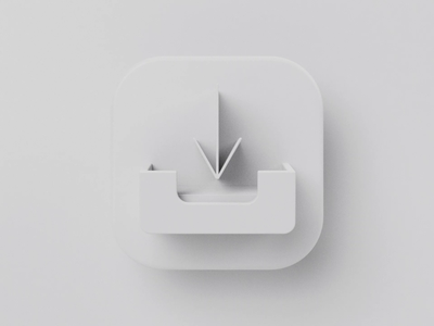 Email Inbox Icon for Rule Communication - Clay motion design icon animation animation 3d animation motion graphics render email newsletter ios white clay octane c4d cinema4d b3d blender 3d icon set 3d icon icon
