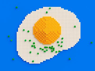 pixel egg voxels pixels 3dart artwork 3d modelling 3d illustration lowpoly pixel pixelart egg render blender3d 3d