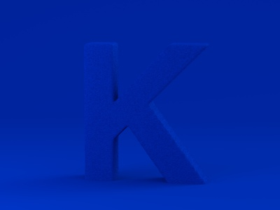 K for Klein art klein k digital art dribble alphabet typography type vector art vector illustration blender render 36daysoftype lettering letter 3dart 3d simple blue
