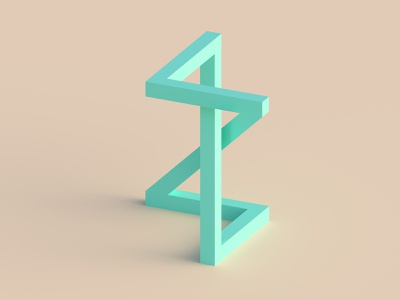 Z for Zig zag letter z rendering simple typo lettering zigzag z 3d illustration 3d art dribble cycles vector alphabet 36daysoftype typography letter illustration blender render 3d