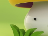 Poisonous Mushroom Close-Up