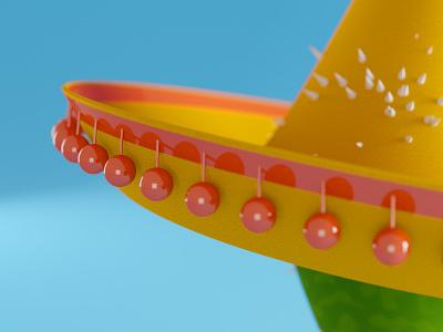 Mexican Cactus Close-Up simple character design doodle 3d character character mexico mexican closeup cactus blender 3d c4d rendering 3d art 3d illustration dribble cycles illustration blender render 3d