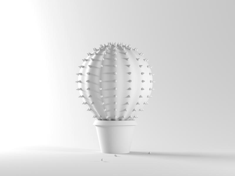 Balloon Cactus Clay