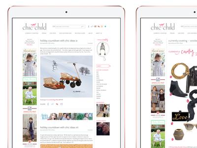 Chic Child Website Design