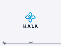 hala logo vector logo cnc.so cnc graphic design creative icon branding design illustrator