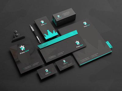 Prens dent ( mockup ) logodesign cncdesign vector logo graphic design creative branding design
