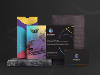 astaamiye - Mockup brand identity branding design flatdesign logo icon graphic design mockup vector creative branding design