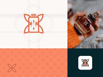 Butterfly & Perfume Logo astaamiye mockup graphic design icon creative logo branding design