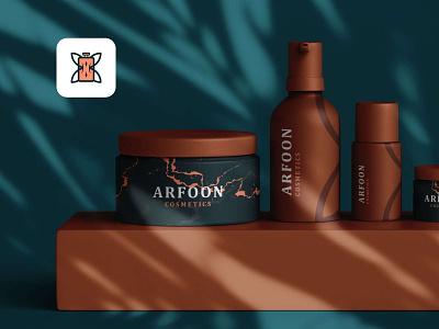Arfoon Cosmetics - Mockup logodesign cosmetics design arfooncosmetics astaamiye mockup design graphic design cosmetics logo cosmetics creative branding design