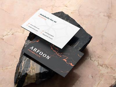 Arfoon Cosmetics - Mockup branding design brand identity creative logo creative design creative design mockup astaamiye logo mockup design graphic design branding