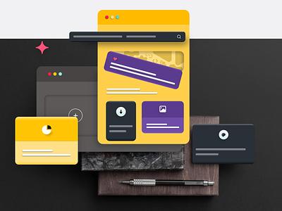 Visual Design ui design site design webdesign c4dfordesigners 3d design website uiux uiuxdesign uidesign astaamiye