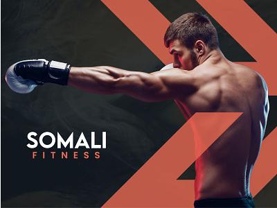 Somali Fitness vector creative branding mockup illustrator logo design graphic design logo care logo design astaamiye