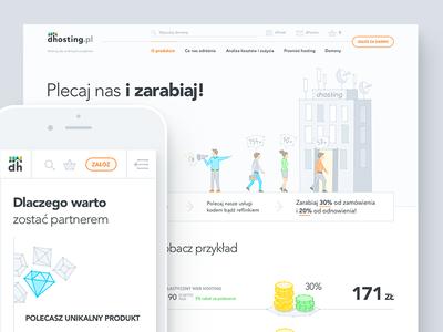 dhosting - Partner Pogram page