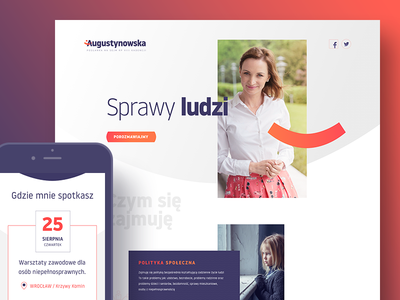 Augustynowska.com - politician website and identity