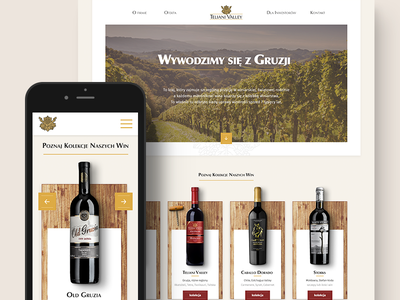 Teliani Valley - winery landing page homepage gold exclusive mobile responsive website product e-commerce winery bottle wine