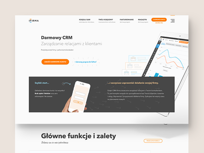 ifirma.pl - CRM module product page accounting responsive mobile stats crm landing page homepage website product page about