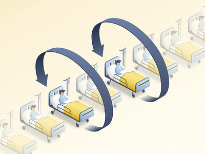 Readmission to hospitals - blog post illustration patient health hospital nurse insurance doctor artificial intelligence ai chatbot blog illustration healthcare