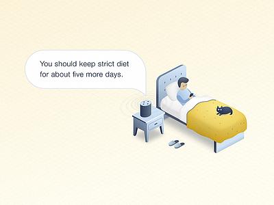 Chatbots for healthcare - blog post illustration patient health hospital nurse insurance doctor artificial intelligence ai chatbot blog illustration healthcare
