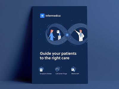 Infermedica poster design health healthcare voice assistant medical app triage call center api symptom checker artificial intelligence ai doctor medical
