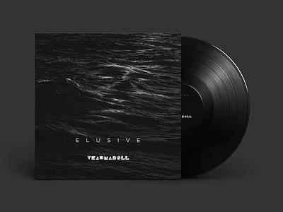 Elusive - album cover black sea waves vinyl album cover art album cover design water dark techno electro band music alternative design identity branding print album cover noise