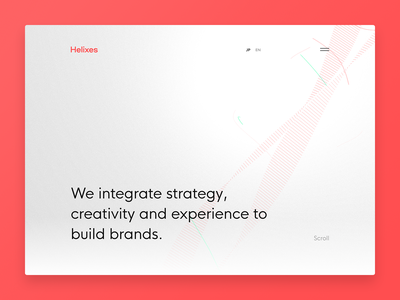 Helixes Inc. canvas helix white clean animation website webdesign