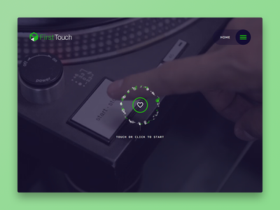 First Touch, Inc. white purple green ui circle grid webdesign website