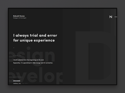 Resume ― Online my resume ui black dark portfolio resume typography webdesign website