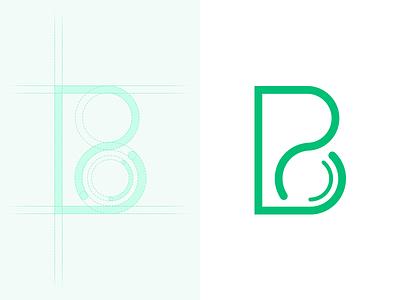 BTCN Logo logo icon b coin green flat simple line