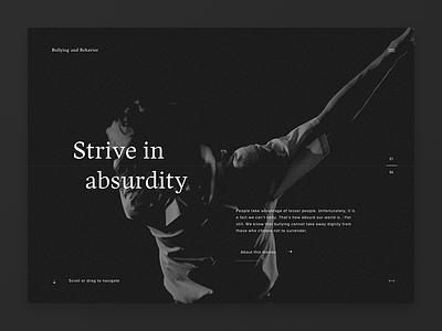 Bullying and Behavior border ui animation webdesign website interactive darkgray black dark