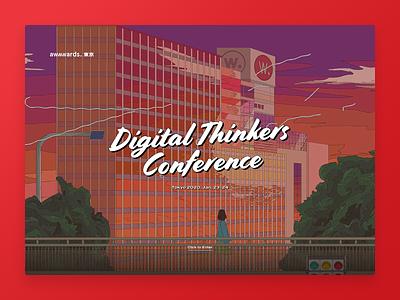 Awwwards Conference 2020 Tokyo conference red illustration animation ui website webdesign