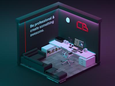 Isometric Office at CB Design