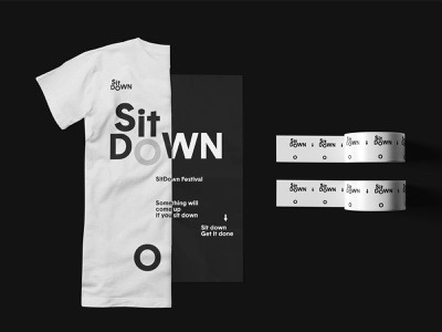 SitDown Festival Branding Part 3 typography tshirt graphics tshirt design tshirt art tape tshirt poster logo layout greyscalegorilla graphic festival design branding beeple