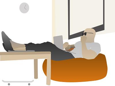 work from home website illustrator ui animation icon branding vector ux design illustration