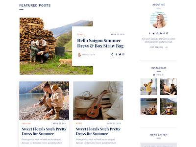 Blog   Landing page blogging web blog design ui design