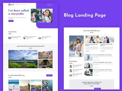Blog landing Page design blogging blog design web design