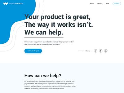 Landing page design webdesign website design typography landingpage web