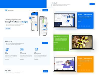 Web agency homepage Design web development web design website web ui design