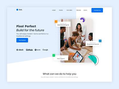 Landing page Design. agency homepage landing page design ui website web design