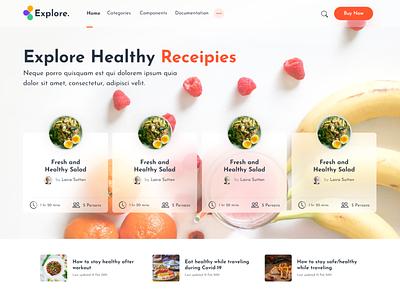 Food blog landing page landing page design recipes food website web blog post blogging blog design design