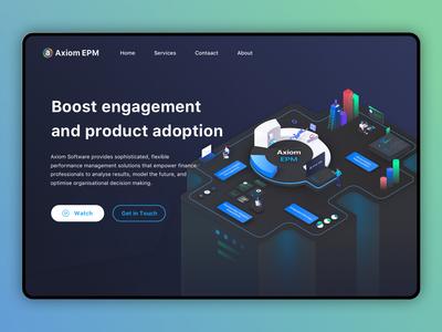Axiom EPM Website UI/UX Design